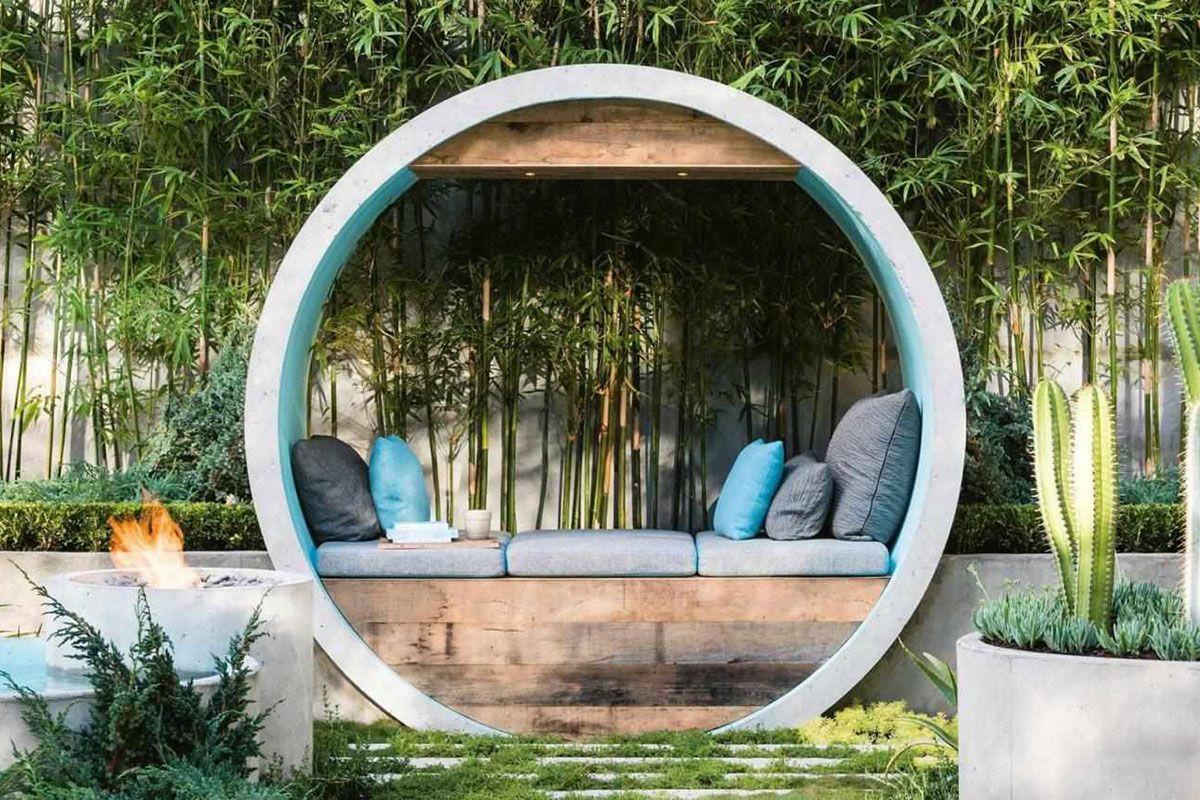 Изображение Создание ландшафтного дизайна сада в стиле модерн